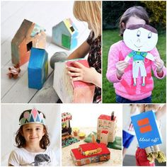 Get your kid's imagination soaring with these 18 fun play time projects made with cereal boxes | MollyMooCrafts.com