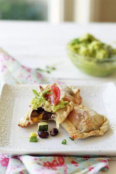 Healthy Easier Empanadas Recipe #vegetarian