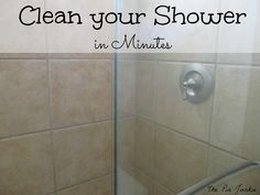 How to clean your glass shower doors - the easy way