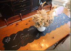 Runner of Thanks- 17 Creative and Easy DIY Home Decor Crafts for the Thanksgiving Holiday