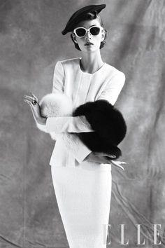 vintag, style, dress, thoma whitesid, black white, fashion photographi, birds, 1950s fashion, classic