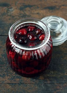 Cherry Liqueur from www.conlemaninpasta.com our of Italy...beautiful photos.