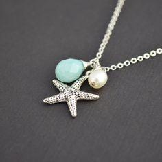 Starfish Nautical Necklace