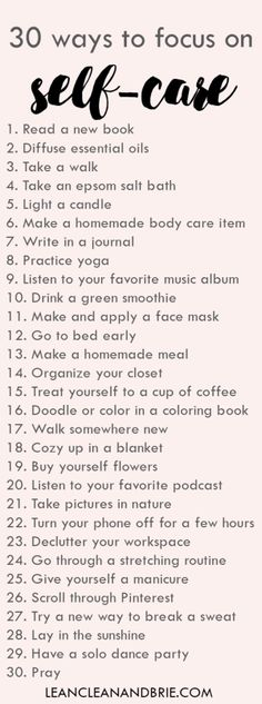 30 ways to focus on