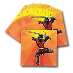 Ninja napkins (lots of martial arts party supplies)
