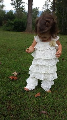 Vintage Inspired Ruffled Lace Dress & by MYSWEETCHICKAPEA on Etsy, $98.00