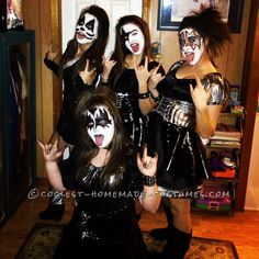 kiss girl, sexy group halloween costumes, sexi kiss, girl group costumes