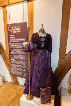 Maggie Smith's costume from the ITV drama series 'Downton Abbey'.