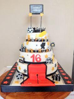Hollywood - Sweet 16 birthday cake Hollywood cake