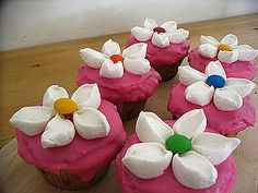 marshmallow flowers! :-)