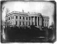 The first known photograph of the White House, 1846.