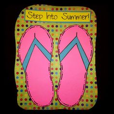 Flip Flop Craft with Writing