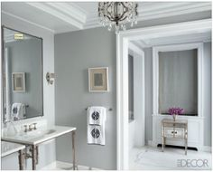 Benjamin Moore in Cliffside Gray. for the my master bedroom and bath