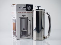it's a french press 3.0 - because trying to run your espresso machine off your car + inverter while camping will melt your vehicle's electrical system. I've heard. ahem.