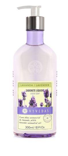 Sabonete Líquido de Lavanda Vyvedas - 300 ml