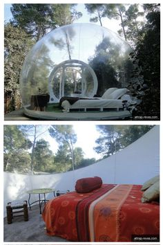Sleep under the stars in these bubble hotels.
