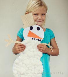 Snowman kids craft #winter #kidscrafts