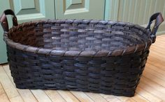 Free Basket Weaving Pattern ~ Oval Storage Basket