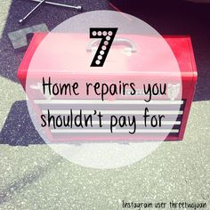 Home repairs you can do yourself. We