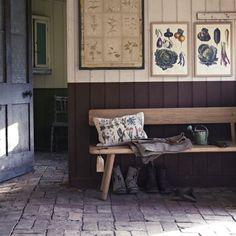 Rustic stone hallway