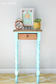 turquoise two toned table-2