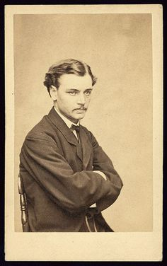 Talk about Baberaham Lincoln.  {Robert Todd Lincoln c. 1865, first son of Abraham and Mary Todd, lawyer, and future Secretary of War.}