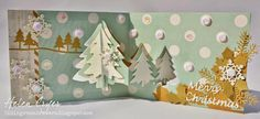 Helen Cryer using the Pop it Ups Evergreen Pivot Card and Outdoor Edges dies by Karen Burniston for Elizabeth Craft Designs. Also uses several new ECD dies. - The Dining Room Drawers: Evergreen Pivot Card - Karen Burniston & Elizabeth Craft Design new dies