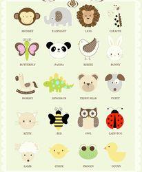 animal faces, animal design, baby cookies, baby animals, animal babies