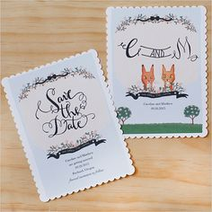 free, customizable save the date and monograms!!