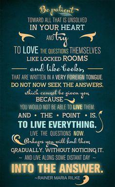 I love love love Rilke