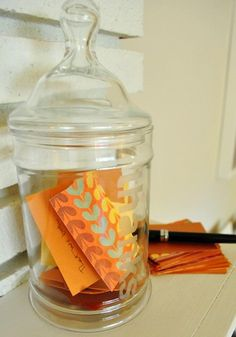 Collegiate Chapters - Consider creating a thank you note jar for your advisors. Have chapter members write notes throughout the year and put them in the jar. Give the notes to your advisor during Advisor Appreciation Month or at an end of the year dinner.