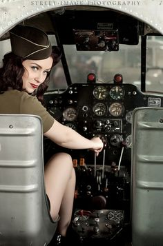 Fly Me | Street Image Photography  #Fly #Me #Street #Image #Photography #Airplane #ww2 #1940s #40s #Air #Force #Model #Pinup #Pin #Up #Retro #Vintage #Woman