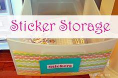 The O.C.D. Life: Sticker Storage!