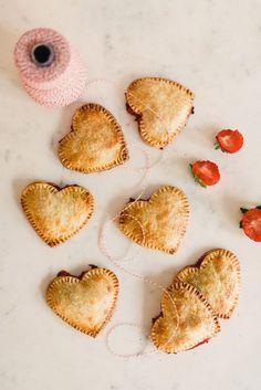strawberry heart hand pies...