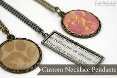 {how-to: easy custom necklace pendants...}