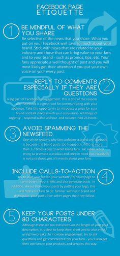 FaceBook page etiquette #infografia #infographic #socialmedia