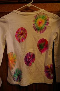 cool tie dye with Sharpies