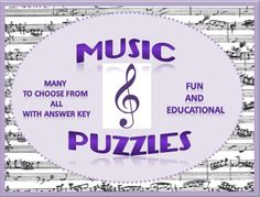 PUZZLES for your music class