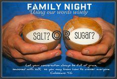 FHE- Using words wisely famili fun, famili night