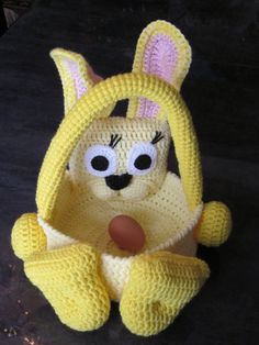 Bunny Basket/Easter Bunny Basket/Crochet Easter by MagicalStrings, $39.00