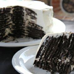 Icebox Oreo cake