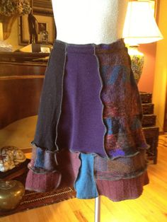 Recycled Refashioned Sweater Skirt