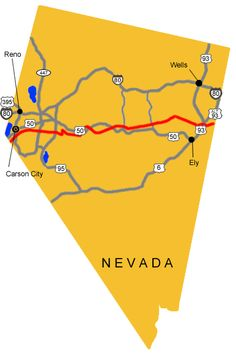 Pony Express route - Nevada poni express