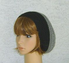 Sale  Light weight Two Tone Hippie Slouch Hat by CrochetHatsForYou,