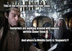 "Where in Middle Earth is ""Hogwarts""?"