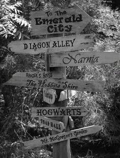 My kind of signpost-would be great in the future play area of backyard