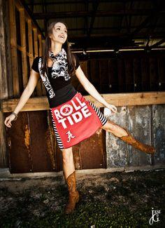 Alabama Crimson Tide Game Day Skirt