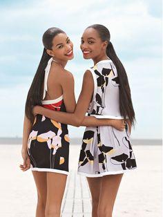Chanel Iman and Jourdan Dunn in Teen Vogue November 2009