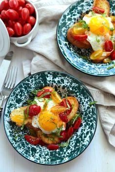 Breakfast Egg Crostini with Tabasco