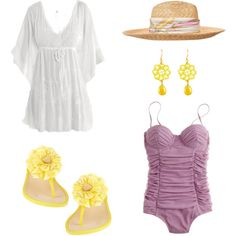 Ready for the beach... by rkimball on Polyvore